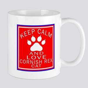 Keep Calm And Cornish Rex Cat Mug