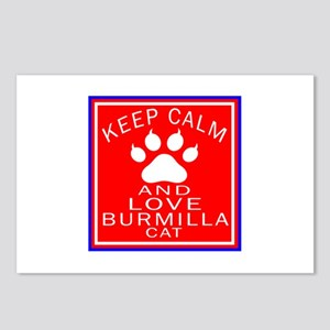 Keep Calm And Burmilla Ca Postcards (Package of 8)