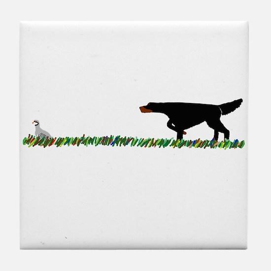 Gordon Setter in the Field II Tile Coaster