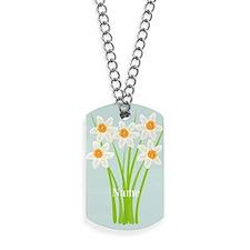 Custom Daffodils Garden Gardener Florist Dog Tags