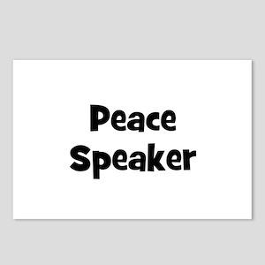 Peace Speaker Postcards (Package of 8)