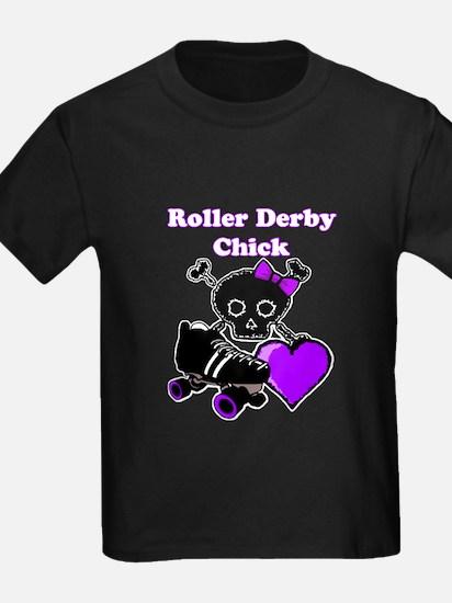 Roller Derby Chick (Purple) T-Shirt