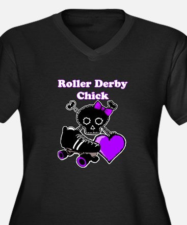Roller Derby Chick (Purple) Plus Size T-Shirt