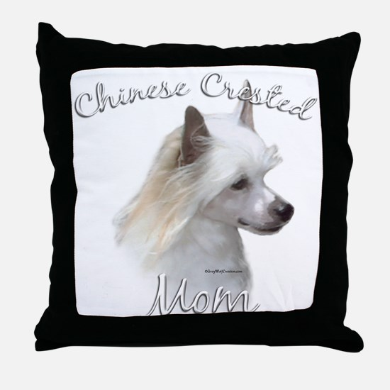 Crested Mom2 Throw Pillow