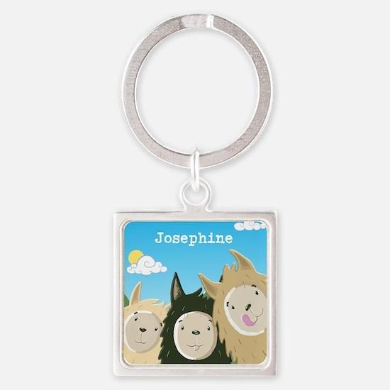 Personalised Three Cute Llamas Keychains