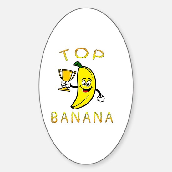 Cute Banana Sticker (Oval)
