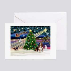 Xmas Magic - Basset Greeting Cards