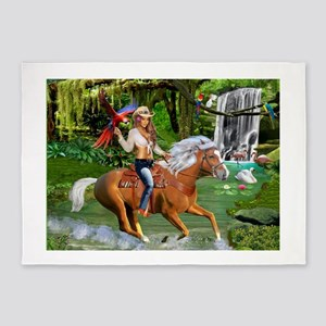 Enchanted Jungle Rider 5'x7'Area Rug