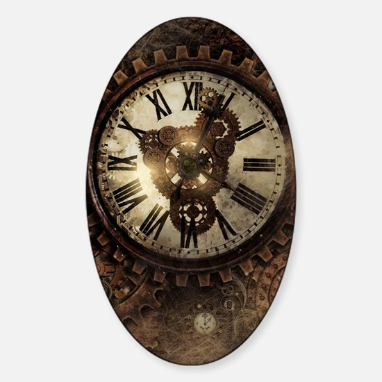 Vintage Steampunk Clocks Decal