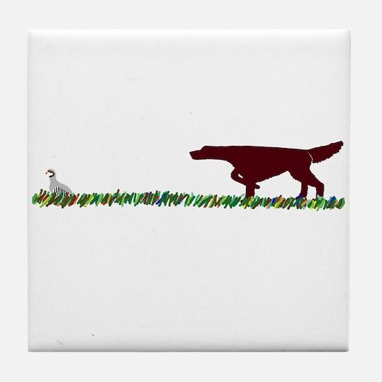 Irish Setter in the Field Tile Coaster