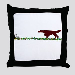 Irish Setter in the Field Throw Pillow
