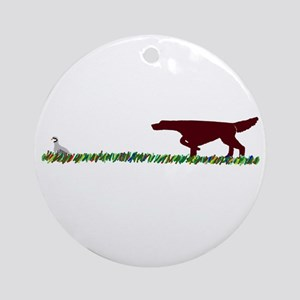 Irish Setter in the Field Ornament (Round)