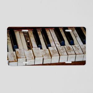 Vintage Piano Aluminum License Plate