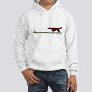 Irish Setter in the Field Hooded Sweatshirt