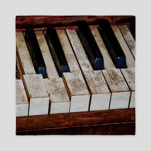Vintage Piano Queen Duvet