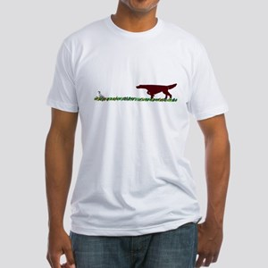 Irish Setter in the Field Fitted T-Shirt