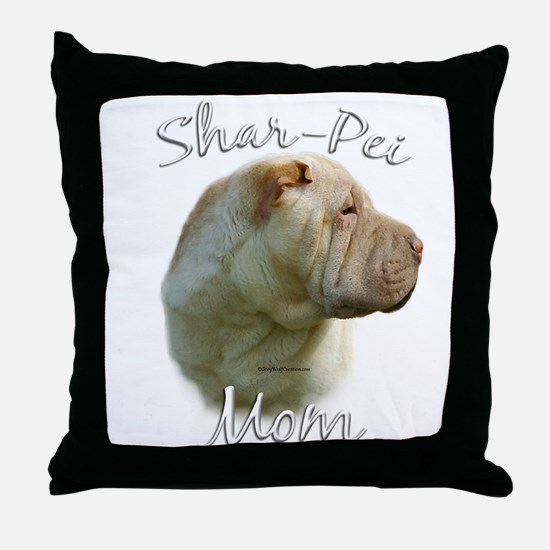 Shar Pei Mom2 Throw Pillow
