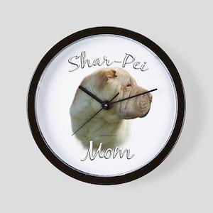 Shar Pei Mom2 Wall Clock