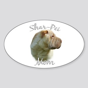 Shar Pei Mom2 Oval Sticker