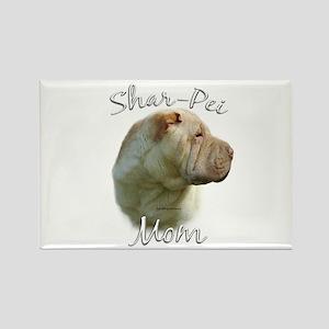 Shar Pei Mom2 Rectangle Magnet