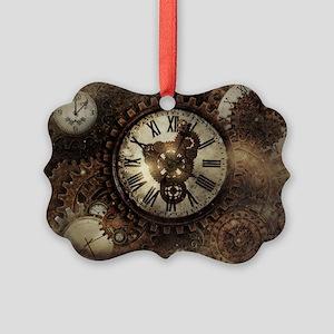 Vintage Steampunk Clocks Ornament