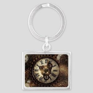 Vintage Steampunk Clocks Keychains
