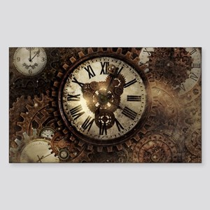 Vintage Steampunk Clocks Sticker