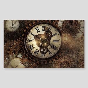 Vintage Steampunk Clocks Sticker