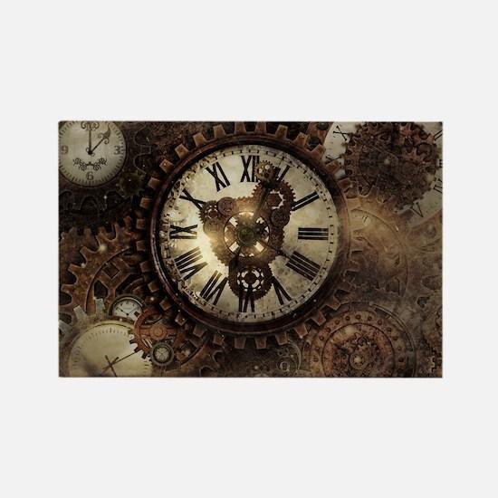 Vintage Steampunk Clocks Magnets