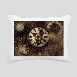 Vintage Steampunk Clocks Rectangular Canvas Pillow