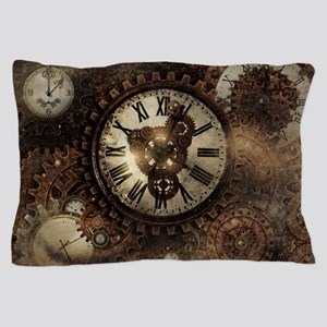 Vintage Steampunk Clocks Pillow Case