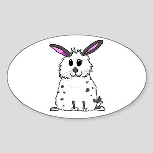 Black and White Fluffy chubby bunny design Sticker