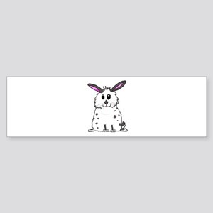 Black and White Fluffy chubby bunny Bumper Sticker