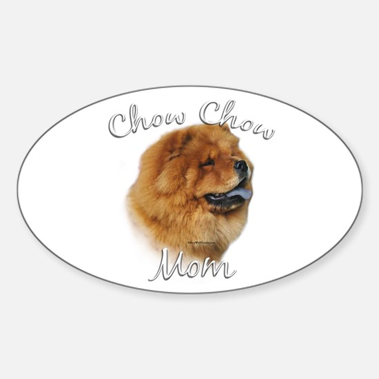 Chow Mom2 Oval Decal