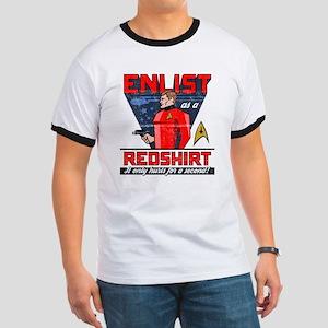 """Star Trek """"Enlist As A Red Shirt"""" Ringer T"""