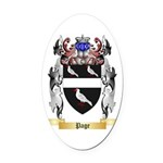 Page Oval Car Magnet