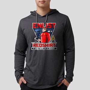 "Star Trek ""Enlist As A Red Shirt Mens Hooded Shirt"
