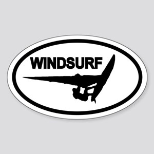 Windsurfing Oval Sticker