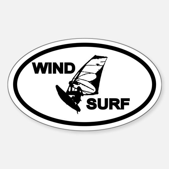 Windsurfing Oval Decal