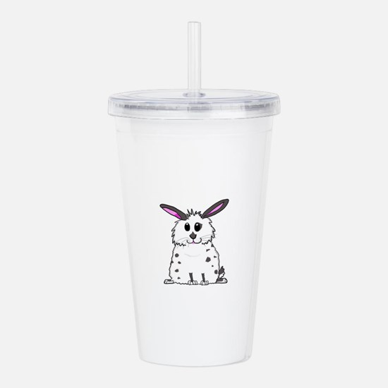Black and White Fluffy Acrylic Double-wall Tumbler