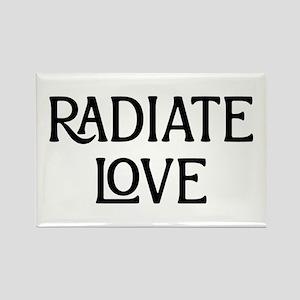 Radiate Love Rectangle Magnet