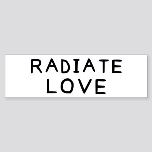Radiate Love Sticker (Bumper)
