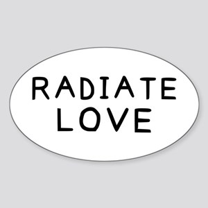 Radiate Love Sticker (Oval)