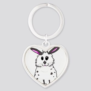 Black and White Fluffy chubby bunny desi Keychains