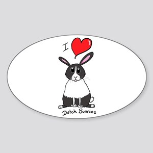I love Dutch bunnies chubby bunny Sticker