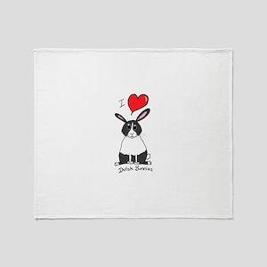 I love Dutch bunnies chubby bunny Throw Blanket