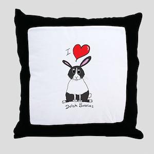 I love Dutch bunnies chubby bunny Throw Pillow