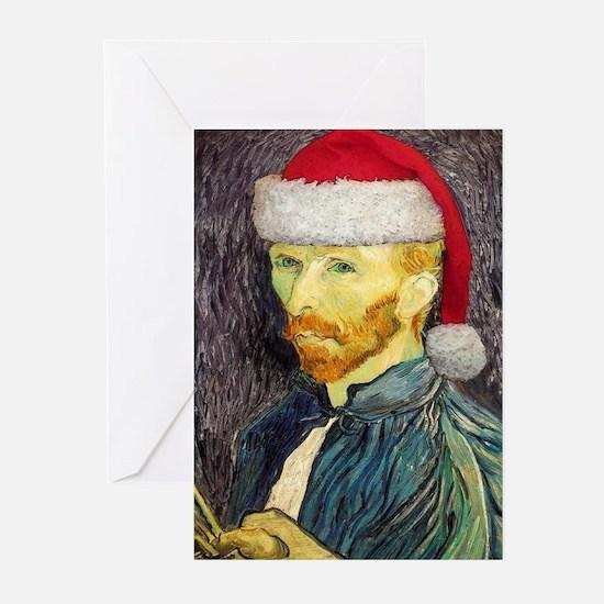 Van Gogh Santa Greeting Cards (Pk of 10)