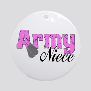 Army Niece Ornament (Round)