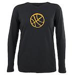 Basketball Plus Size Long Sleeve Tee